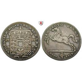 Braunschweig, Braunschweig-Calenberg-Hannover, Georg I. Ludwig, 2/3 Taler 1700, ss