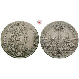 Braunschweig, Braunschweig-Calenberg-Hannover, Johann Friedrich, 2/3 Taler 1677, ss