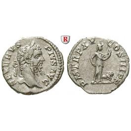 Römische Kaiserzeit, Septimius Severus, Denar 207, vz