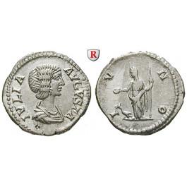 Römische Kaiserzeit, Julia Domna, Frau des Septimius Severus, Denar 202, vz/ss-vz