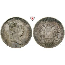 Österreich, Kaiserreich, Franz II. (I.), 1/2 Scudo 1826, ss
