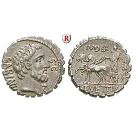 Römische Republik, T. Vettius Sabinus, Denar, serratus 70 v.Chr., vz