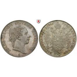 Österreich, Kaiserreich, Franz Joseph I., Konventionstaler 1854, vz+