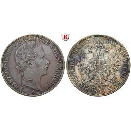 Österreich, Kaiserreich, Franz Joseph I., Vereinstaler 1859, ss-vz