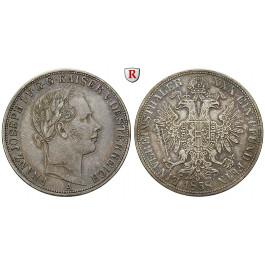 Österreich, Kaiserreich, Franz Joseph I., Vereinstaler 1858, ss-vz