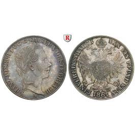 Österreich, Kaiserreich, Franz Joseph I., Vereinstaler 1861, vz