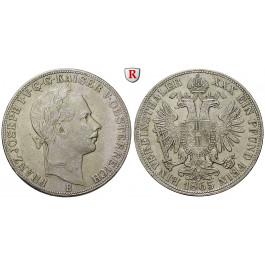 Österreich, Kaiserreich, Franz Joseph I., Vereinstaler 1865, f.vz
