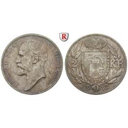 Liechtenstein, Johann II., 2 Kronen 1912, vz-st