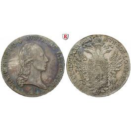 Österreich, Kaiserreich, Franz II. (I.), Taler 1820, ss/vz