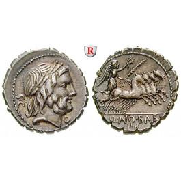 Römische Republik, Q. Antonius Balbus, Denar, serratus 83-82 v.Chr., vz