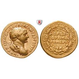 Römische Kaiserzeit, Traianus, Aureus 107, ss-vz