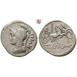 Römische Republik, P. Servillus Rullus, Denar 100 v.Chr., ss+