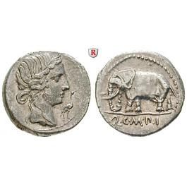 Römische Republik, Q. Caecilius Metellus, Denar 81 v.Chr., ss-vz