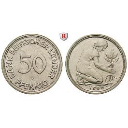 Bundesrepublik Deutschland, 50 Pfennig 1950, Bank deutscher Länder, G, vz-st, J. 379