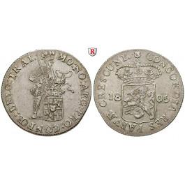 Niederlande, Utrecht, Silberdukat 1805, f.vz