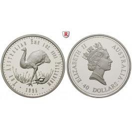 Australien, 40 Dollars 1995, 31,15 g fein, PP