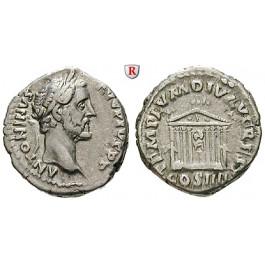 Römische Kaiserzeit, Antoninus Pius, Denar 145-161, ss