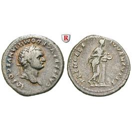 Römische Kaiserzeit, Domitianus, Caesar, Denar 79, ss