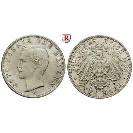 Deutsches Kaiserreich, Bayern, Otto, 2 Mark 1905, D, ss-vz/vz-st, J. 45