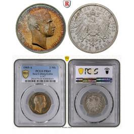 Deutsches Kaiserreich, Sachsen-Coburg-Gotha, Carl Eduard, 2 Mark 1905, A, PP, J. 147