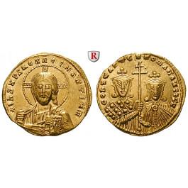 Byzanz, Constantinus VII. und Romanus II., Solidus 950-955, vz