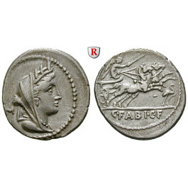 Römische Republik, C. Fabius, Denar 102 v. Chr., ss+