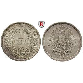 Deutsches Kaiserreich, 1 Mark 1876, J, vz-st/st, J. 9