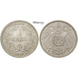 Deutsches Kaiserreich, 1 Mark 1912, F, vz, J. 17