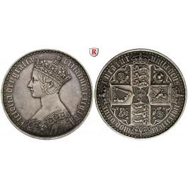 Grossbritannien, Victoria, Crown 1847, f.vz