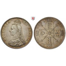 Grossbritannien, Victoria, Double-Florin 1887, ss-vz/vz