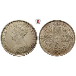 Grossbritannien, Victoria, Florin 1855, ss-vz/vz
