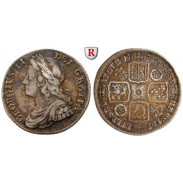 Grossbritannien, George II., Shilling 1735, ss