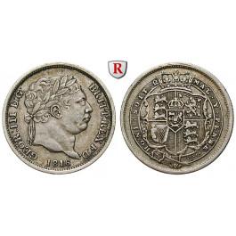 Grossbritannien, George III., Shilling 1816, ss+