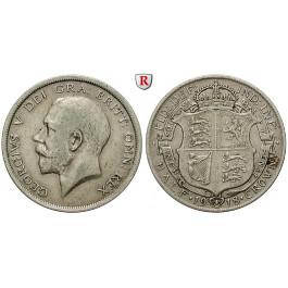 Grossbritannien, George V., Halfcrown 1918, ss+