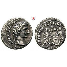 Römische Kaiserzeit, Augustus, Denar 2 v.-4 n.Chr., ss