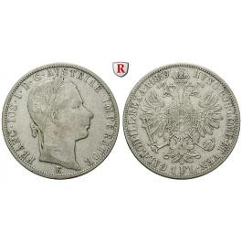 Österreich, Kaiserreich, Franz Joseph I., Gulden 1859, ss