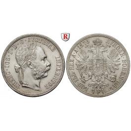 Österreich, Kaiserreich, Franz Joseph I., Gulden 1876, vz+