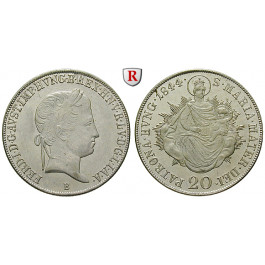 Österreich, Kaiserreich, Ferdinand I., 20 Kreuzer 1844, vz
