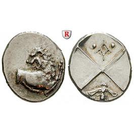Thrakien, Chersonnesos, Hemidrachme 386-338 v.Chr., vz