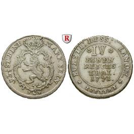 Hessen, Hessen-Kassel, Friedrich II., 1/4 Taler 1771, ss+