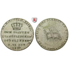 Sachsen, Sachsen-Weimar-Eisenach, Carl August, Silberabschlag vom Dukaten 1817, vz-st