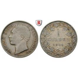 Württemberg, Herzogtum Württemberg (Kgr. ab 1806), Wilhelm I., 1/2 Gulden 1849, ss