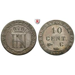 Westfalen, Königreich, Hieronymus Napoleon, 10 Centimes 1808, ss+