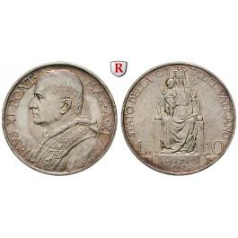 Vatikan, Pius XI., 10 Lire 1939, vz