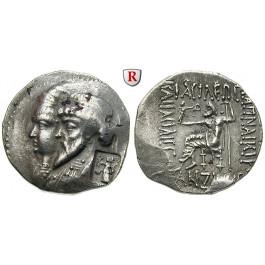 Elymais, Königreich, Kamnaskires III. und Anzaze, Tetradrachme, ss