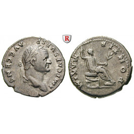 Römische Kaiserzeit, Vespasianus, Denar 73, ss-vz