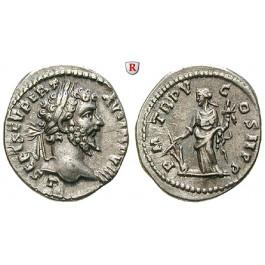 Römische Kaiserzeit, Septimius Severus, Denar 197-198, f.vz