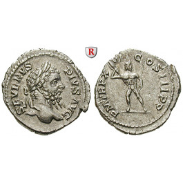 Römische Kaiserzeit, Septimius Severus, Denar 208, vz