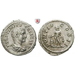 Römische Kaiserzeit, Geta, Caesar, Denar 209, vz/ss-vz