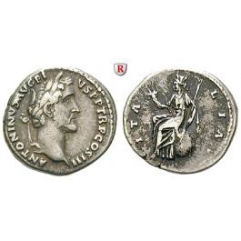 Römische Kaiserzeit, Antoninus Pius, Denar 140-143, ss+